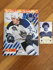 Toronto Maple Leafs Program & Ticket Stub - Last Victory in Maple Leaf Gardens