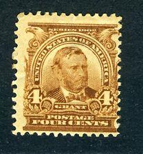 1902 US stamp: Grant, 4c  SC#303;  MNG; CV=$60