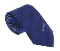 Missoni U5569 Blue/Black Animal 100% Silk Tie
