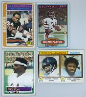 Lot Of 9 Different Walter Payton Football Cards EX Condition