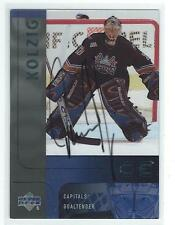 Olaf Kolzig Signed 2001/02 Upper Deck Ice Update Card #126