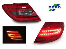 DEPO OEM Facelift Look LED Light Bar Smoke Tail Light For 2008-2011 W204 C Class