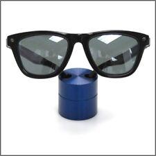Optical Display Small Premium Solid Aluminum Cylinder Blue