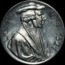REFORMATION: Alu-Medaille 1921. 400 JAHRE REICHSTAG ZU WORMS - MARTIN LUTHER.