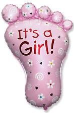 Baby shower Babyfuss pink ca. 80 cm Luftballons it's a girl Geburt deco xxl