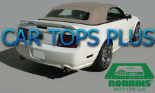 "2005-14 Mustang Convertible Top & Heated Glass ""Robbins"" Haartz Sailcloth Camel"