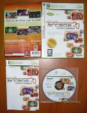 Xbox Live Arcade Unplugged Volumen 1, Xbox 360, Pal-España COMPLETO Y COMO NUEVO