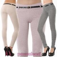 Pantaloni donna pois stretti elasticizzati skinny aderenti nuovo AS-5001