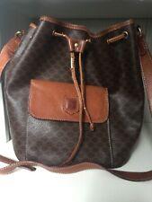 CELINE Vintage Macadam PVC Leather Bucket Bag