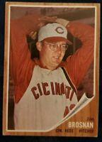 1962 Topps #2 Jim Brosnan - Cincinnati Reds - VGEX