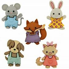 Jesse James Dress It Up Buttons Sewing Scrapbooking, 'Forever Friends', Animals