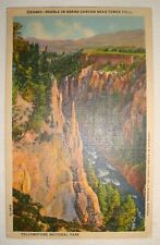Vintage Postcard: Needle in Grand Canyon nr. Tower Fall, Yellowstone, 1957, Used