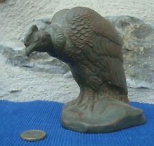 V24 Sculpture Statue Terre Cuite Signée G DEMANGE XIXe Condor Vautour Patinée