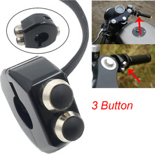 CNC Switch 22-23MM Motorcycle Handlebar Grips Reset Self Latch&Momentary Buttons