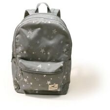 Hollister Women's Backpack, Book Bag, Laptop Tote, Gray- Silver Stars with LOGO!