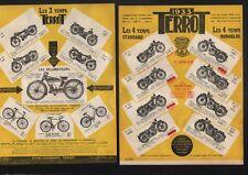 TERROT :  prospectus 2 pages de la gamme juin 1933   2 temps et 4 temps