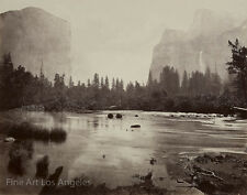 "Eadweard Muybridge Photo, ""El Capitan, Bridal Veil, Yosemite"" 1870s"