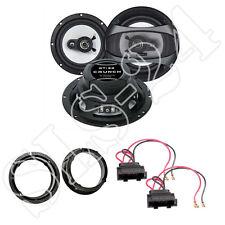 Crunch gti62 180 W Haut-parleur + anneaux + Adaptateur pour VW Bora Variant, Golf V