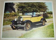 1929 Desoto Roadster car print (yellow, no top)