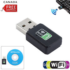 Mini USB Wireless WiFi Network Receiver Card Adapter For Desktop PC 300Mbps CA