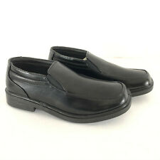 Deer Stags Brian Boys Dress Shoes Loafers Comfort Slip-On Faux Leather Black 6.5