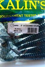 "Bluegill - Kalin's 8"" Octogambo Grubs - 8M10-410 BIN T"
