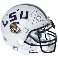 "JOE BURROW Autographed ""19 Heisman"" LSU Tigers Authentic Schutt Helmet FANATICS"