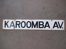 Street Sign, Enamelled, Karoomba Avenue, Vintage, Original