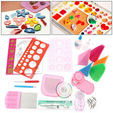 19 en 1 Papel Filigranas herramientas de bricolaje Kits Juego Completo Trabajo