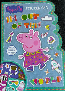 Peppa Pig Sticker Activity Book- A4 Size - 3 Sheets Of Stickers 5 Fun Scenes