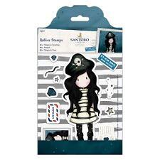 PIRACY-Docrafts Santoro Gorjuss Postal Rubber Stamp-Stamping Craft-Girl Pirate