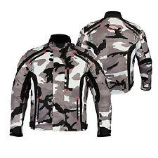 Mens MCW Gear Camo Motorcycle Motorbike Armour Textile Jacket CE Protector