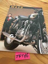 Kawasaki W650 W 650 brochure catalogue moto prospectus prospekt en Allemand