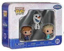 Funko Pocket Pop Disney Frozen Mini Vinyl Action Figure 3pc Tin - Anna Olaf Elsa