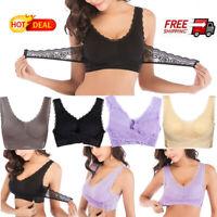 2020 Hot Women's Front Cross Yoga Bra Sexy Lace Buckle Side Breathable Sport BRA