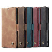 For Samsung Galaxy S9 S10 Note 10 Plus Leather Flip Card Slot Wallet Cover Case