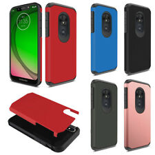 "For Motorola Moto G7 Play / T-Mobile Revvlry 5.7"" Fusion Hybrid Case Cover Skin"