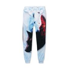 Wolf Amine Skull Print Women Men Jogger Sports Pants Casual Sweatpants Trousers