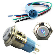 16mm Socket Plug+12V 16mm LEDLighted Momentary Metal Push Button Air Horn Switch