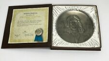 Hamilton Mint '76 Annual Easter Pewter Plate Triptych Ii #440 Certificate & Box