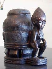 Art Africain - Boite Oracle à souris - Baoulé - Côtes d'Ivoire.  35 cm.