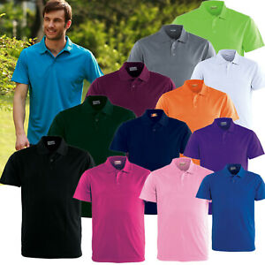 15 COLOURS MENS POLO SHIRT 100% POLYESTER COOL DRY BREATHABLE PLAIN  BASIC POLO