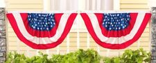 """2 Pack of American USA Flag Bunting 22"""" x 36"""" Fourth 4th of July Decoration"""
