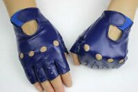 Women Genuine Leather Gloves Fashion fingerless Driving Soft Summer Wrist Gloves