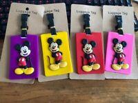 Colorful Mickey PVC Luggage Tag Travel Label tags anime handbag tag