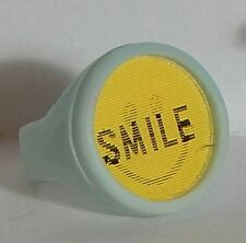 VINTAGE SMILEY FACE SMILE FLICKER RING GUMBALL CHARM