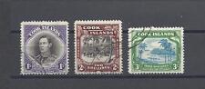 COOK ISLANDS 1938 SG 127/9 USED Cat £70