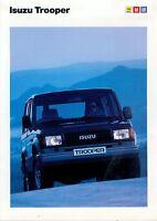 1 Isuzu Trooper Prospekt 1989 brochure Geländewagen broszura broschyr brosjyre