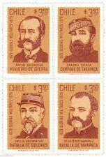Chile 1979 #964-67 Glorias Militares MNH
