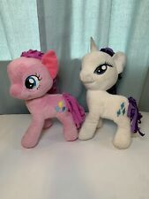"""Rarity And Pinkie Pie Lot Of 2 Plush My Little Pony Unicorn White And Pink 12"""""""
